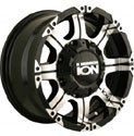 ION ALLOY STYLE 187 WHEELS BLACK/MACHINED