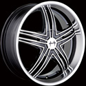 MAZZI INVASION ALLOY WHEELS (SERIES 395) BLACK/MACHINED