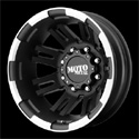 Moto Metal MO963 Dually Wheels Matte Black Rear