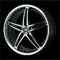 Motegi Racing MR107 Wheels Glossy Black