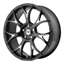 Motegi Racing MR126 Wheels Glossy Black/Milled
