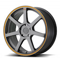 Buy Motegi Racing MR132 Wheels Gray/Orange Stripe at Discount Prices from tiresbyweb.com by calling 800-576-1009.