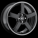 MSR STYLE 091 BLACK/SUPERFINISH STRIPE WHEELS