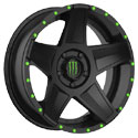 Monster Energy Edition 648B Satin Black Wheels