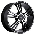 Platinum 122B Wolverine Gloss Black Wheels