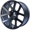 OE Creations Wheels 107 Satin Black Wheels