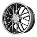 OE Creations 121 Hyper Silver Dark Wheels