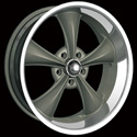 RIDLER STYLE 695 WHEELS GREY/MACHINED LIP
