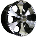 ION ALLOY TRAILER STYLE-136 6-LUG BLACK/MACHINED WHEELS