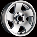 ION ALLOY TRAILER STYLE 10 MACHINED/SILVER WINDOW WHEELS