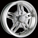ION ALLOY TRAILER STYLE-12 SILVER/MACHINED LIP WHEELS
