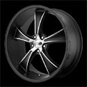 American Racing Blvd Wheels Satin Black/Machined [VN805 Wheels]