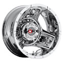 Worx 801C Triad Dually Chrome Rear Wheels