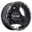Worx 801SB Triad Dually Satin Black Rear Wheels