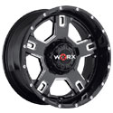 Worx 802BM Havoc Gloss Black Wheels