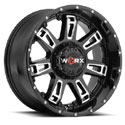 Worx 808BM Beast II Gloss Black Wheels