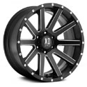 XD Series Heist Wheels Satin Black/Milled [XD818 Wheels]